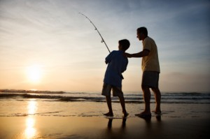 Fishing with son