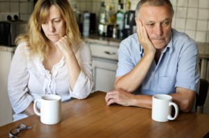 Miserable Couple With Coffee